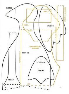 Goose (by TILDA) pattern