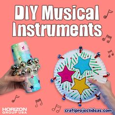 Jingle bells aren't just for the holiday season! Use them to make DIY musical instruments Fun Easy Crafts, Holiday Crafts For Kids, Preschool Themes, Preschool Lessons, Music Activities, Activities For Kids, Instrument Craft, Homemade Musical Instruments, Celebration Around The World