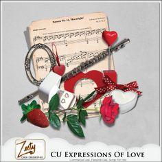 CU Expressions Of Love | CU/Commercial Use #digital #scrapbook design tools at CUDigitals.com #digitalscrapbooking