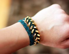 DIY Hex nut wrap bracelet.