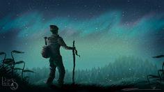 David Piñeles Ilustraciones: Aurora Boreal #DavidPiñelesIlustraciones #Dibujo #Draw #Illustration #Ilustracion #Digital #Concept #Art #Aurora #Boreal #Northern #Lights