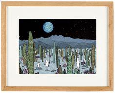'Desert Moon' - limited Edition of 50 - A3 giclee print (unframed) - anniedavidson.bigcartel.com