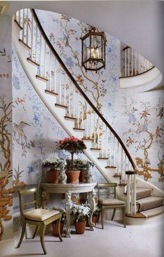 David Easton Gracie Wallpaper Stairway