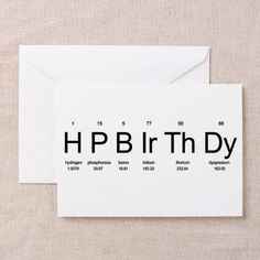 happybirthday Greeting Card Periodic Table Birthday Greeting Cards by Chemistees by Cecilia Periodic Table Birthday Cards (Pk of on Birthday Cards For Friends, Bday Cards, Funny Birthday Cards, Handmade Birthday Cards, Birthday Greeting Cards, Birthday Greetings, 18th Birthday Cards, 18th Birthday Gifts For Best Friend, Birthday Card Design