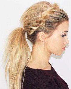 Rope Braided Headband Ponytail Hairstyles for Women