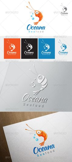 Oceana Seafood Logo — Vector EPS #sea #restaurant • Available here → https://graphicriver.net/item/oceana-seafood-logo/4350330?ref=pxcr