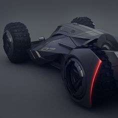 last week I watched Batman vs Superman and I was impressed by the vehicle designs. That's why I created my own version of the batmobile.