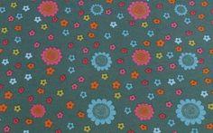 Stoff Blumen - 681 Jersey Blüten Petrol - ein Designerstück von my-kati bei DaWanda