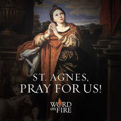St. Agnes, pray for us!  #Catholic #Pray