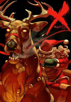 Top 25 des fan-art badass du Père Noël, c'est peut être pas une ordure mais c'est un putain de gros dur