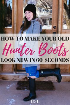This is the best way on how to clean hunter rain boots! If you have hunter rain boots you need to have this pinned! So glad I found this post!