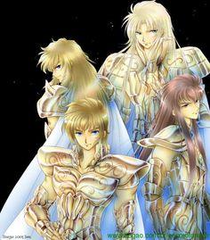 Aiolia, Saga, Milo e Kamus