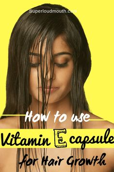 Hair Remedies How to use vitamin e capsules for hair growth - These are the different ways to incorporate vitamin e capsules for hair growth i.e through diet, taking capsules and hair masks. Vitamin E Capsules Uses, Vitamine E Capsules, Hair Growth For Men, Hair Growth Tips, Hair Remedies For Growth, Hair Growth Treatment, Hair Treatments, Natural Treatments, Vitamins For Hair Growth
