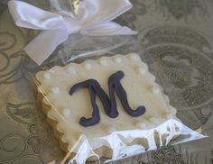 monogram sugar cookies | Monogram Sugar Cookies in royal purple | Decorated Sugar Cookies