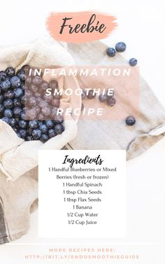 Get your anti-inflammatory smoothie guide now! Smoothie Packs, Smoothie Diet, Healthy Smoothies, Healthy Drinks, Eating Healthy, Healthy Food, Healthy Living, Clean Eating, Anti Inflammatory Smoothie