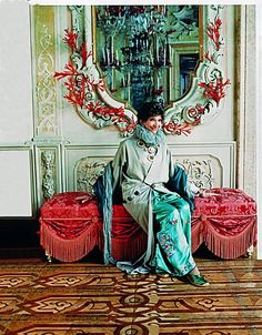 Dodie Rosekrans in her Venetian Palace~ İtaly , Renovated by Tony Duquette