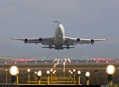 Virgin Atlantic 747-400 G-VGAL aircraft at Manchester.