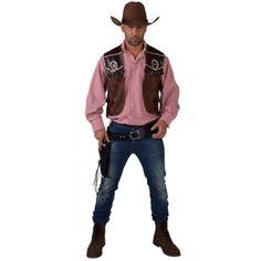 Déguisement gilet cowboy homme luxe