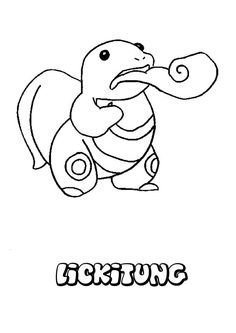 Lickitung Pokemon Coloring Page More Sheets On Hellokids