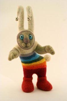 Crazy rabbit by Marina Komarkevitch