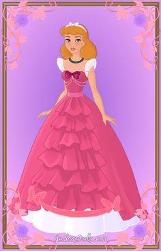 Cinderella { Pink Dress, Redone } by kawaiibrit on deviantART