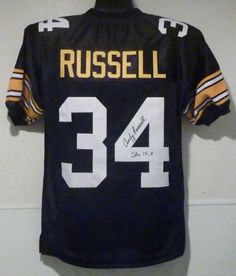 e2710b648 Andy Russell Autographed Pittsburgh Steelers Jersey Size XL w