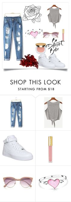 """""""Sem título #279"""" by liasalvatore ❤ liked on Polyvore featuring NIKE, Isaac Mizrahi, River Island and Bling Jewelry"""