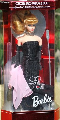 "Barbie Special Edition 1994 Reproduction of 1960's Solo in the Spotlight Barbie  $60 - Special Edition 1960 Reproduction 1994 ""Solo in the Spotlight Barbie""  From The Fashion and Doll Collection . . .Solo in the Spotlight Barbie  YEAR: 1994 Special Edition  CONDITION: New In Original Box  This item is listed on ebay for $90  ALL SALES ARE FINAL! PLEASE READ THIS BEFORE PURCHASE!"