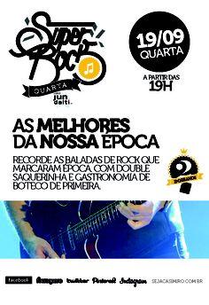 Música ao Vivo, melhores da nossa época #superrock quarta 19/09 no #2anosCasimiros