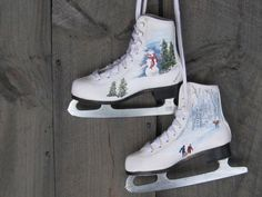 Hand-Painted Ice Skates