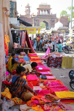 Textiles (India). I've always wanted to go here, I love marketplaces...