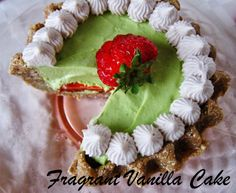 Raw Mini Strawberry Key Lime Pie from Fragrant Vanilla Cake