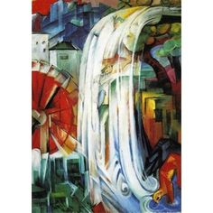 Giclee Print: The Bewitched Mill, 1913 by Franz Marc : Franz Marc, Framed Wall Art, Canvas Wall Art, Framed Prints, Vincent Van Gogh, Chicago, Monet, Art Sur Toile, Painting Prints