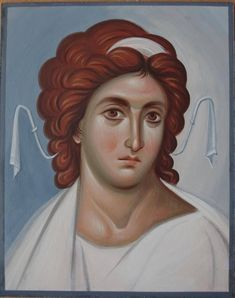 """La classe maîtresse """"Cold Encaustic in icon painting"""" Archangels, Byzantine Art, Image, Orthodox Christian Icons, Face Drawing, Portrait, Angel Art, Art Hobbies, Byzantine"""