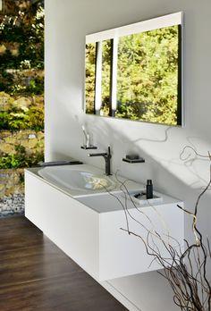 Waschbecken-Design fürs Bad Neues Badezimmer?  So behältst du die Kosten im Griff.  Ideen, Tipps und Inspiration rund ums Thema Badezimmer Planung findest du auf www.wohn-dir-was.de  Bildmaterial (c) KEUCO