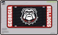 Georgia Bulldogs License Plate NCAA Football Red-Pink Vinyl Decal Aluminum New #DiamondDecalz