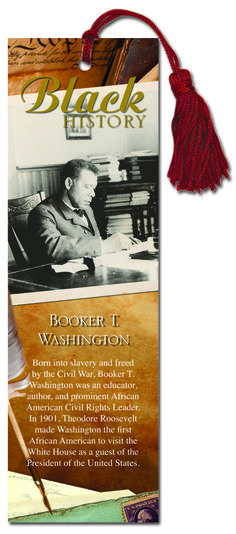 Continue celebrating Black History Month with this Booker T. Washington bookmark.