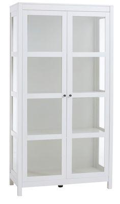 Vitrinskåp ILBJERG 2 dörrar vit | JYSK