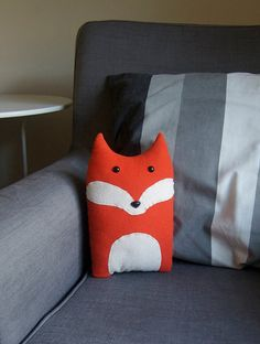 Fox Woodland Forest Plush Stuffed Animal Pillow