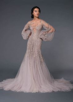 Evening Dresses, Prom Dresses, Formal Dresses, Paolo Sebastian Bridal, Skirt Images, Fantasy Dress, Gowns With Sleeves, Couture Collection, Couture Fashion