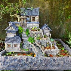 Concrete Crafts, Woodworking Wood, Garden Ornaments, Fish Tank, Activities For Kids, Outdoor Living, Aquarium, Waterfall, Diy Projects