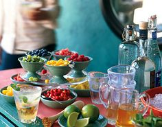 D.I.Y. Drinks Bar....how to instructions here http://www.bonappetit.com/recipes/2006/05/diy_drinks_bar