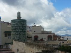Round minaret of Moulay Idriss, Morocco.  This is because we are a Holy City as this is where Islam started in #Morocco.