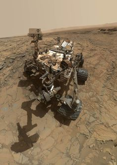 """This self-portrait of NASA's Curiosity Mars rover shows the vehicle at the """"Big Sky"""" site, where its drill collected the mission's fifth taste of Mount Sharp, at lower left corner. The scene combines images taken by the Mars Hand Lens Imager (MAHLI) camera on Sol 1126 (Oct. 6, 2015). Credit: NASA/JPL-Caltech/MSSS"""