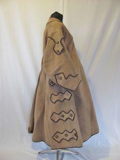 Classic Original Civil War Era Lady's Wool Coat C Hard to Find Victorian Women, Victorian Fashion, Vintage Fashion, Victorian Coat, Historical Costume, Historical Clothing, Civil War Fashion, Civil War Dress, 19th Century Fashion