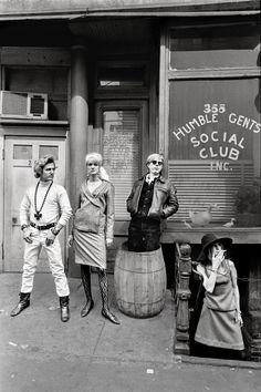Malanga, artist Ingrid Superstar, Warhol, and friend Susanna Campbell.
