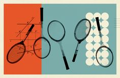 Tennis, Trigonometry and Tornadoes, illustration for David Foster Walllace's essay