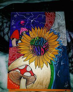 hippie painting ideas 489766528228482687 - 35 Ideas Word Art Drawings Doodles Artworks For 2019 Source by kennediekihumbu Hippie Drawing, Hippie Painting, Trippy Painting, Hippie Art, Painting & Drawing, Cute Canvas Paintings, Mini Canvas Art, Diy Canvas, Trippy Drawings