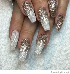 silver-and-gold-glitter-on-long-nails