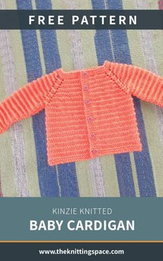 Pick this charming Kinzie knitted baby cardigan as your gift for a dear one's upcoming baby shower. The lovely knitted piece will look great in any . Free Baby Sweater Knitting Patterns, Baby Knitting Free, Knitted Baby Cardigan, Knit Baby Sweaters, Easy Knitting, Baby Pullover Muster, Handmade Baby, Baby Shower, Newborn Hats